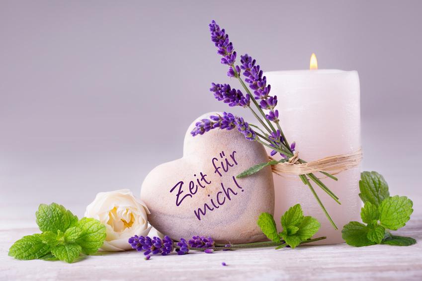 Zeit fr mich  -  Duftende Deko aus Lavendel, Krutern, Blten und Kerze